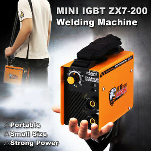 220v Zx7 200 Portable Mma Arc Welder Dc Igbt Welding Machine Soldering Inverter