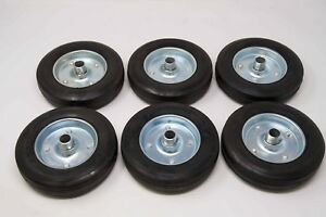 Rolling Gate Wheels Rubber 8inch Replacement Kit of 6