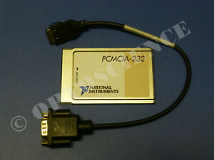 National Instruments Pcmcia 232 Interface Card With Cable Rs232