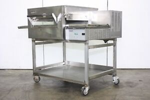 Lincoln Impinger 1132 Commercial Electric Pizza Sandwich Oven Conveyor On Stand