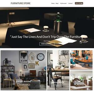 Furniture Store Website For Sale Earn 793 A Sale Instant Traffic free Domain