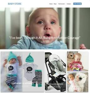 Baby Store Website For Sale Earn 594 A Sale Free Domain hosting