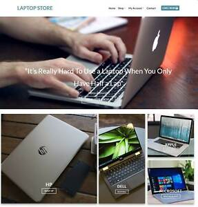Laptop Store Website For Sale Earn 879 A Sale Free Domain free Hosting