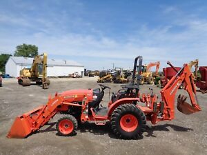 2014 Kubota B2650 Tractor W Loader And Backhoe 4wd Hydro 683 Hours