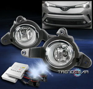 For 2018 2019 Toyota C Hr Bumper Driving Fog Lights Lamps Chrome W 8k Hid Switch