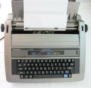 Panasonic Electronic Portable Typewriter Model R320 Vintage Working Has Cover