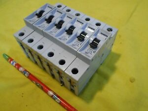 Lot Of 6 Siemens 5sx21 5sx2 Circuit Breakers Electrical Control Switch