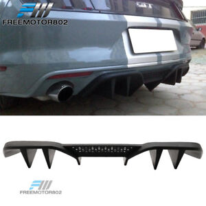 Fits 15 17 Ford Mustang R spec V2 Rear Diffuser Lower Valance For Non Premium Pp