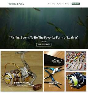 Fishing Store Website Business For Sale Earn 193 A Sale Free Domain hosting