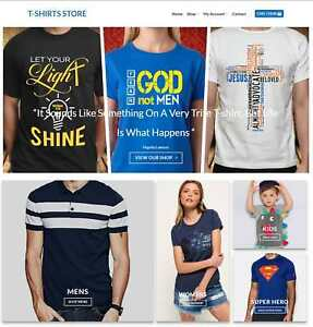 T shirt Store Website Business For Sale Earn 113 A Sale Free Domain hosting
