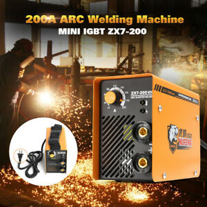Zx7 200 Portable Mma Arc Welder Dc Igbt Welding Machine Soldering Inverter 220v