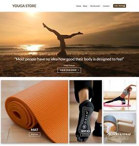 Yoga Store Website Business For Sale Earn 250 A Sale Free Domain hosting