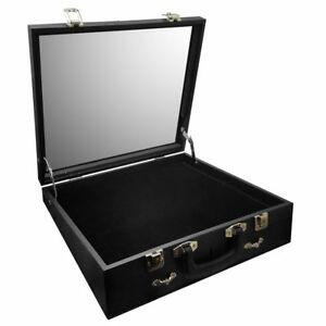 Angled Glass Top X large Display Carrying Case 16 1 2 w X 15 d X 4 1 2 h