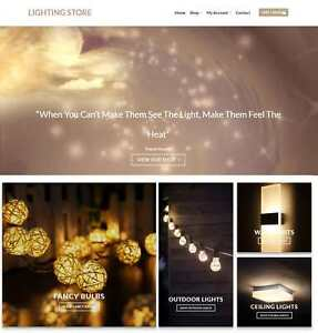Lighting Store Website Business For Sale Earn 125 A Sale Free Hosting domain