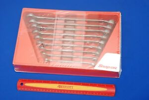 Snap on 9 Pc 12 Point Sae Flank Drive Combo Wrench Set Oex709b New Ships Free