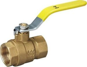 pack Of 10 1 Brass Ball Valve Ips Full Port Threaded 600wog lead Free