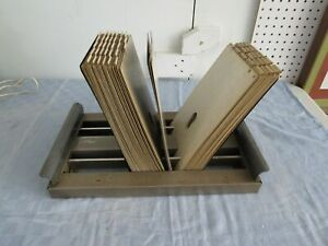 Vintage E S Roscoe Rolodex Type Metal File Industrial Card Holder Portable