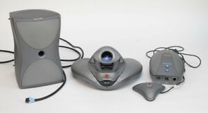 Lot Of Polycom Vsx 7000 Camera Subwoofer Vga Adapter Microphone Conference Voice