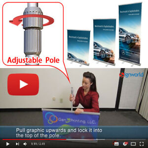 Retractable Roll Up Banner Stands 33 Height Adjustable Trade Show Display 6 Pcs