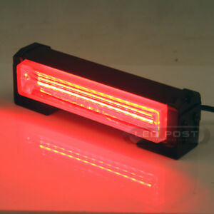 Red 6 20w Cob Led Sig Hazard Warning Emergency Roof Light Bar Mount