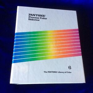 The Pantone Library Of Color 3 Ring Binder Manual Guide Process Color Selector