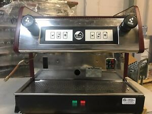La Pavoni Commercial Espresso Machine Maker Pub 2 Red 2 Group