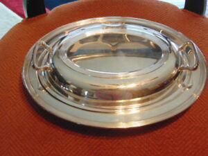F B Rogers Silver Co Covered Oval Casserole With Glassbake Glass Dish E
