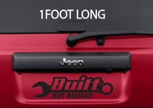 Built Not Bought 12 Long Black Jdm Lowered Car Truck Jeep Vinyl Die Cut Decal
