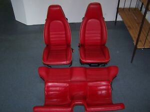 Porsche 944 911 Special Order Can Can Red Seats Oem Complete Set
