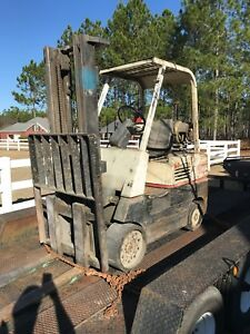 Hyster 60 Forklift Propane Runs And Drives