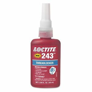 Loctite 1329467 243 Blue Medium Strength Threadlockers 1 69 Oz 50 Ml 3 4 Th
