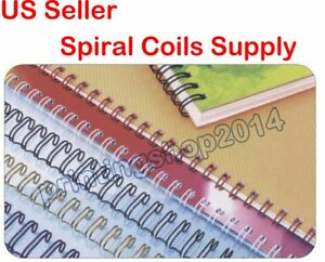 100sheets 5 16inch 7 9mm Metal Spiral Coils Punching Binding Material Supply