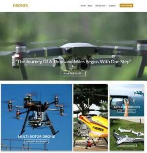 Drones Website Business For Sale Earn 929 A Sale Instant Traffic free Domain