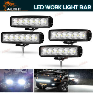 4x 6inch 18w Led Work Light Bar Flood Offroad Atv Fog Truck Lamp 4wd 12v 6