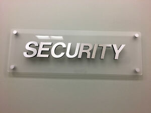 Security Large Sturdy 3d Relief Store Sign Signage With Standoffs security