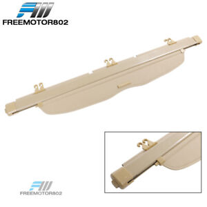 Fit 07 11 Honda Crv Cr V Oe Style Retractable Rear Cargo Trunk Cover Beige