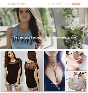 Ladies Fashion Website Business Earn 229 A Sale Domain hosting traffic