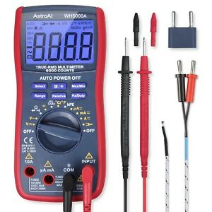 Digital Multimeter F Voltage Current Resistance Continuity Frequency Temp