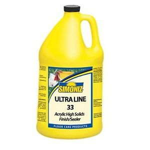Floor Finish Ultra Line 33 Acrylic High Solids Finish And Sealer case Of 4