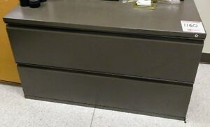 Later File Cabinet Hon 2 Drawer All Dark Grey