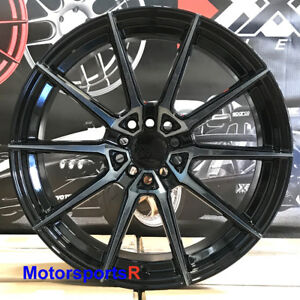 Xxr 567 Wheels Phantom Black 18 38 Staggered Rims 5x114 3 Fit Nissan 350z Nismo