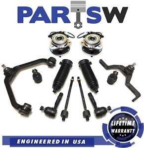 14 Pc Suspension Kit For Mercury Ford Mazda Control Arm Inner Outer Tie Rod