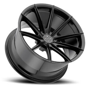 22 Blaque Diamond Bd11 Black Concave Wheels Rims Fits Chrysler 300 300c 300s