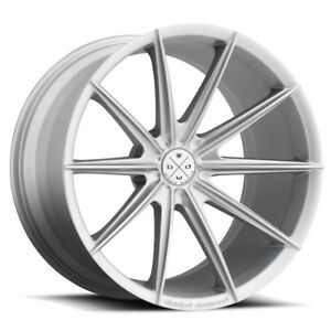20 Blaque Diamond Bd11 Silver Concave Wheels Rims Fits Jaguar Xkr