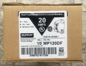 Lot Of 10 Murray Mp120df Dual Function Afci gfci Breaker 20 Amp 1 Pole 120v New