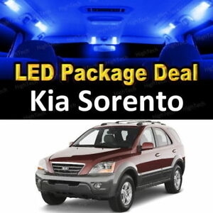 For 2003 2004 2005 2006 Kia Sorento Led Lights Interior Package Kit Blue 5pcs