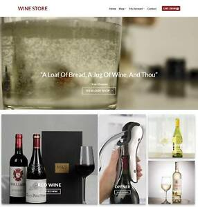 Wine Shop Website Business Earn 104 A Sale Domain hosting traffic