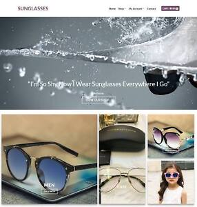 Sunglasses Website Business Earn 114 A Sale Domain hosting traffic