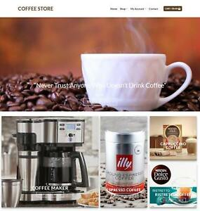 Coffee Shop Website Business Earn 206 A Sale Domain hosting traffic