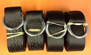 4 14 Black Tow Truck Lasso Straps Century Wrecker Rollback Car Carrier Usa Made